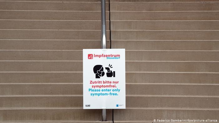 Centru de vaccinare în Düsseldorf